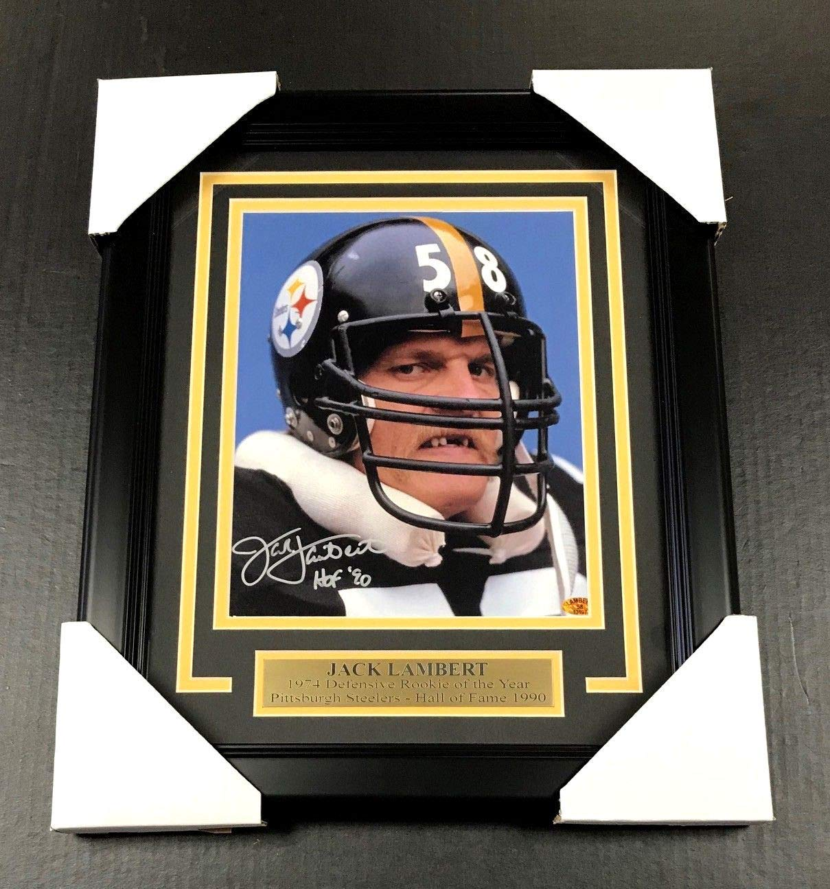 JACK LAMBERT DRACULA SIGNED AUTOGRAPHED 8X10 PHOTO FRAMED PITTSBURGH STEELERS