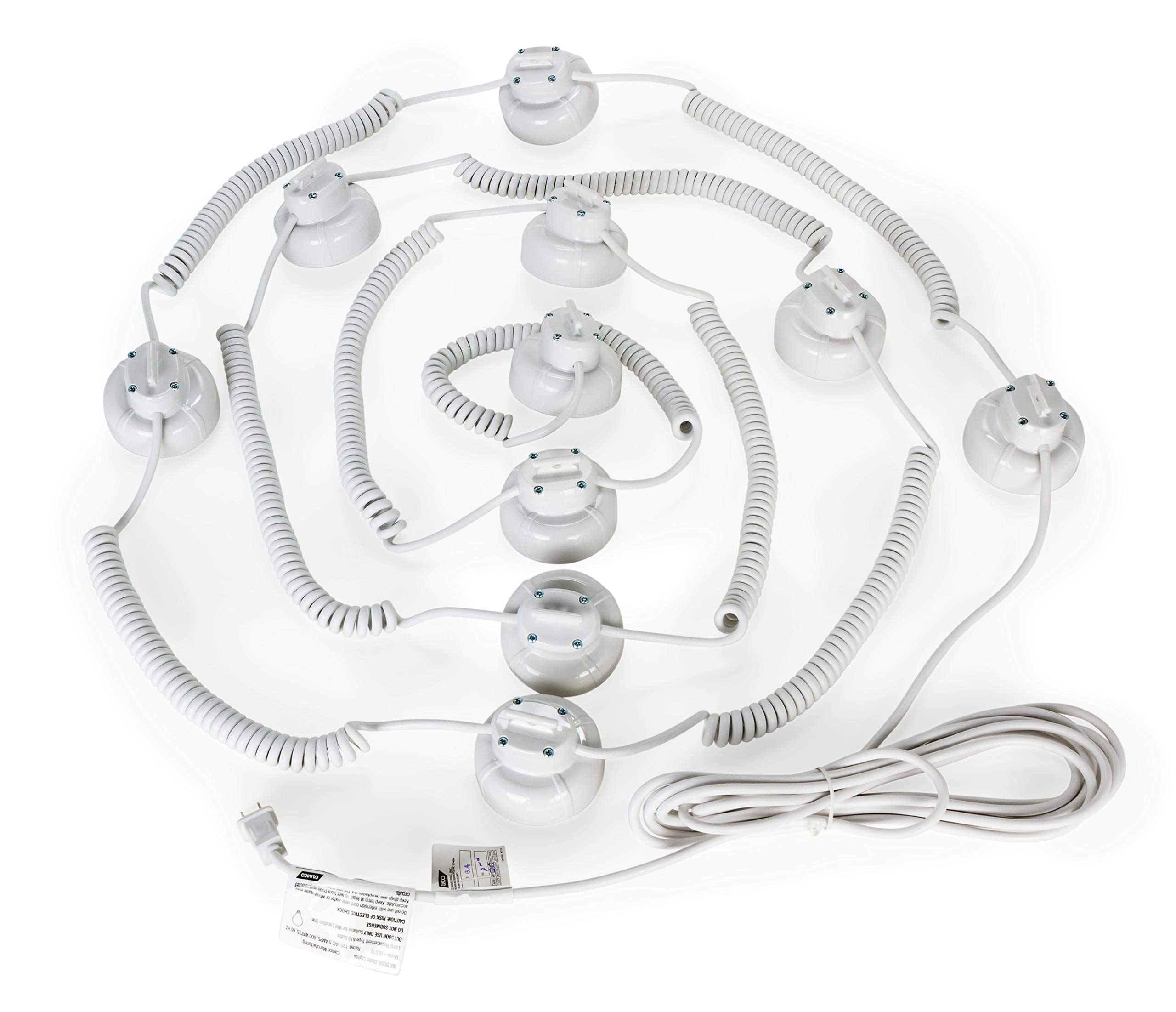 Camco 42750 Decorative RV Awning Globe Lights - 10 Multicolor Globes on White Wire,  Fits Directly into Your RV Awning Track, Great  for Outdoor Events by Camco (Image #10)