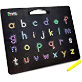 PicassoTiles 2-in-1 Double Sided Magnetic Alphabet Board ABC A-Z Upper Case Capital and Lowercase Letter Writing Reading…