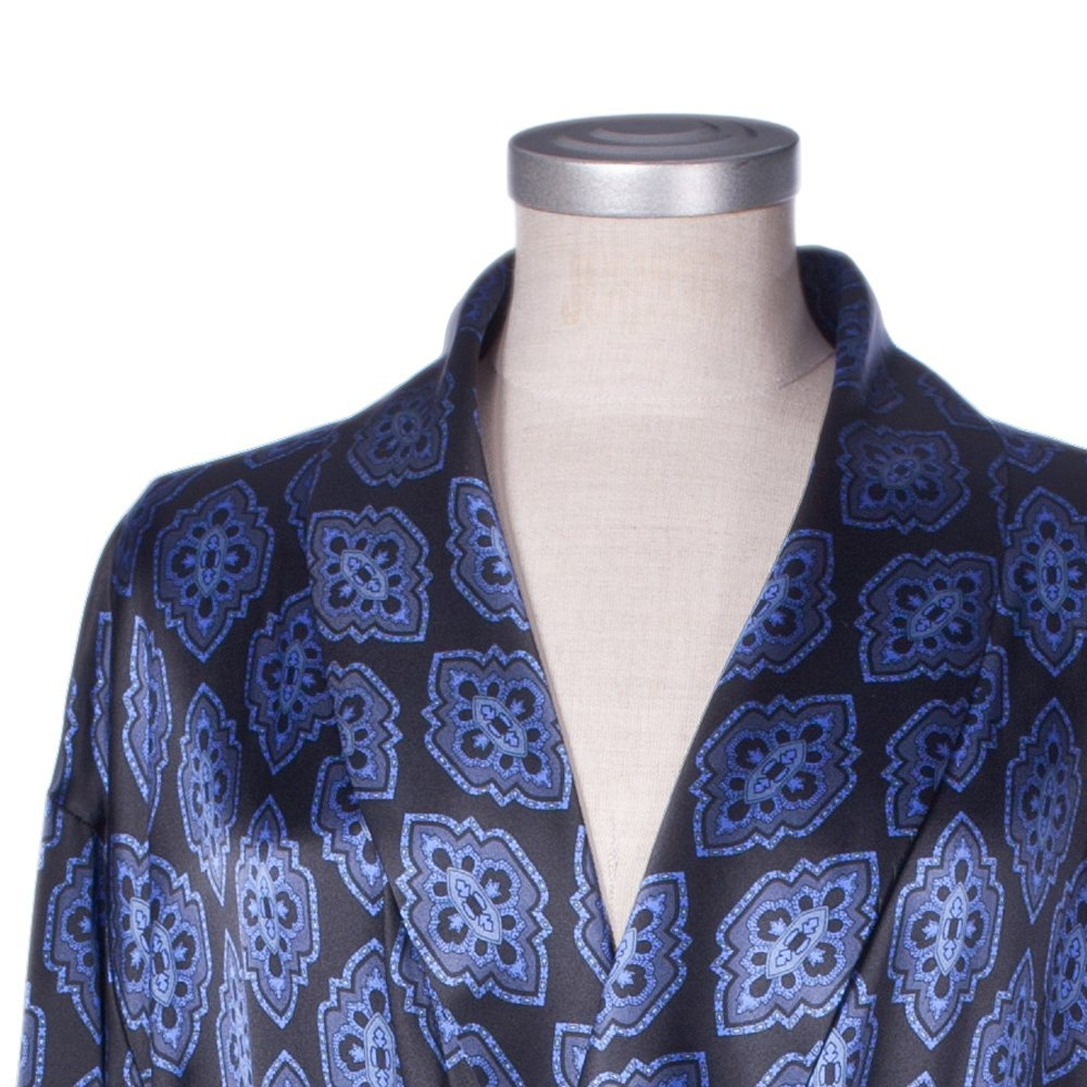 Daniel Hanson Silk Dressing Gown for Men: Amazon.co.uk: Clothing