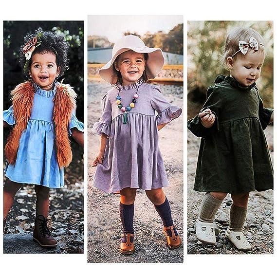 Conjunto Top Y Falda Mujer Niño Pequeño Bebé Niños Niñas Princesa Verano  Casual Volantes Vestido fddcc2235260