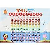 数字 お風呂 ポスター A3サイズ (420×297mm)【日本製 防水 知育玩具 A3 ポスター 学習ポスター】