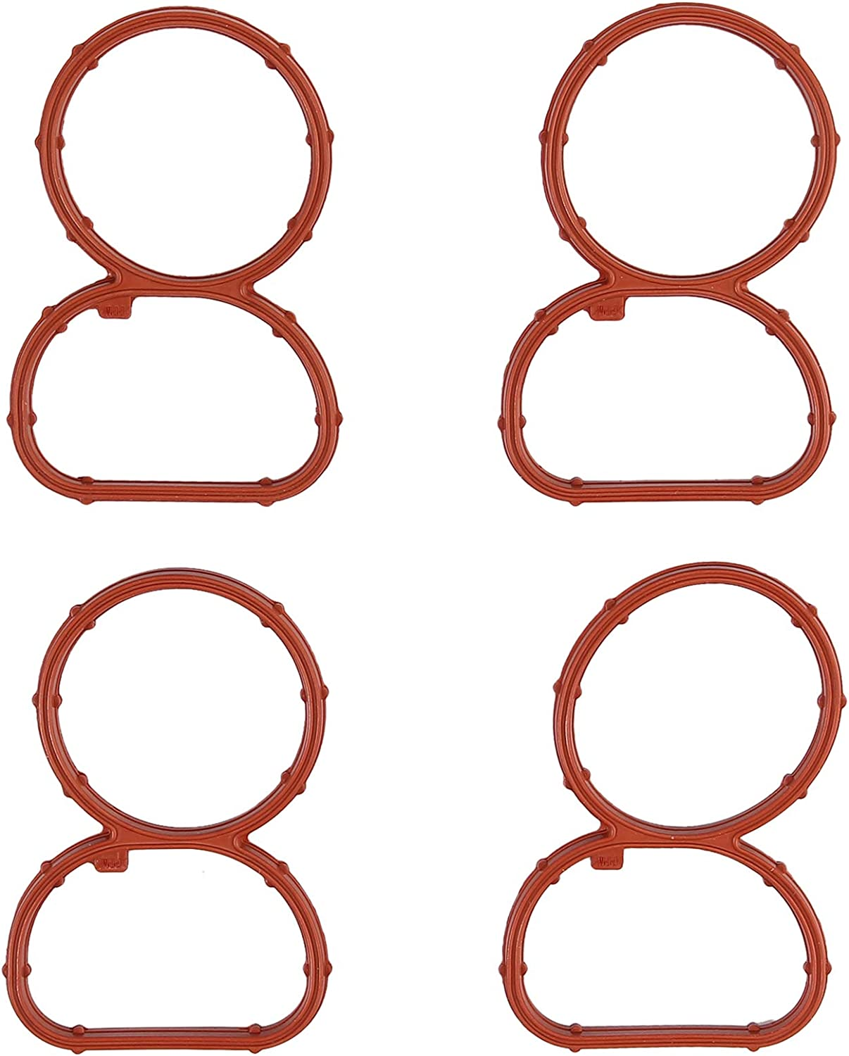 CAMWAY Manifold Gaskets Fit for BMW N47 Intake Swirl Flap Delete Blank Plug Bung Metal With Manifold Gaskets
