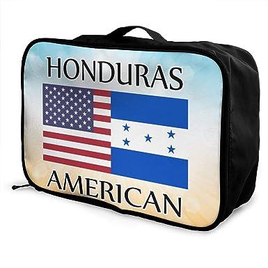 68352f05f893 Amazon.com: Honduras American Flag Men Women Toiletry Bag Large ...