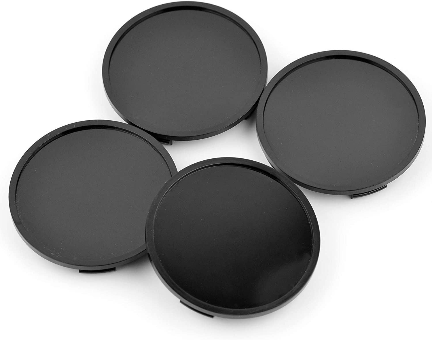 76mm(2.99in)/72mm(2.83in) Wheel Hub Center Caps Set of 4 Black Base for Auto Accessories