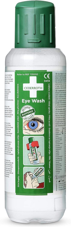 Cederroth ® | Lavaojos 2 x 500 ml | El Lavaojos tiene un efecto neutralizante sobre las salpicaduras de álcalis y ácidos en los ojos para ayudar a restablecer el equilibrio del pH | Pack 2 botellas