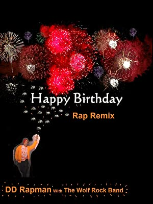 Happy Birthday Rap Remix Fireworks Greeting Card