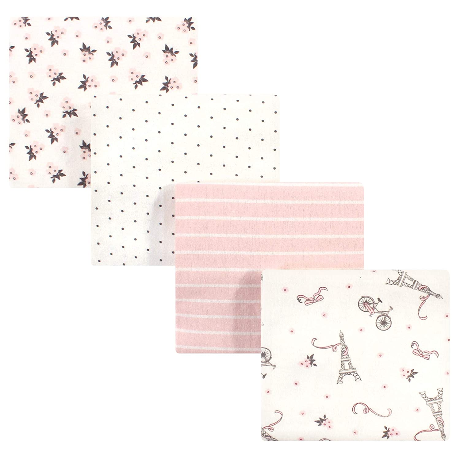 Pink Safari Hudson Baby Flannel Receiving Blankets 7pk One Size