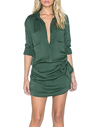 d5632356e08 Amazon.com  HaoDuoYi Womens Soft Belt Formal Chic Stylish Rompers Jumpsuits  (XL)  Clothing