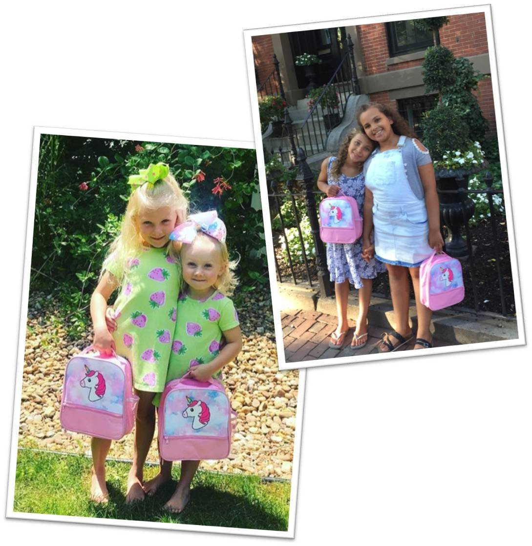 Unicorn Lunch-Box for Girls. Pink Lunch Bag Rainbow Horn. Large School Lunch-Boxes Kids. Cute Tote. Insulated. BPA Free. 9