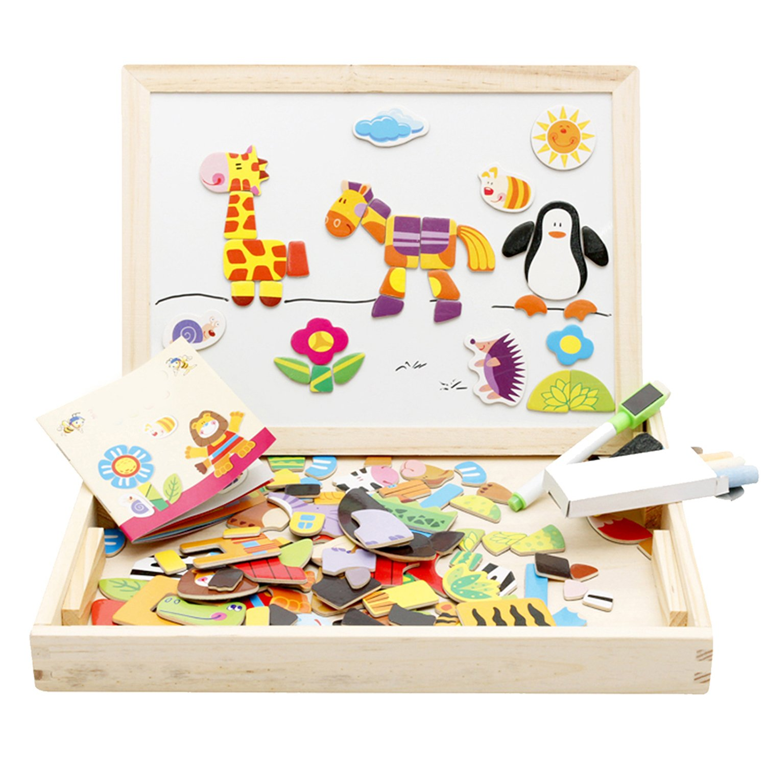 Amazon Lewo Wooden Educational Toys Magnetic Art Easel
