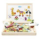 Lewo Wooden Educational Toys Magnetic Art Easel