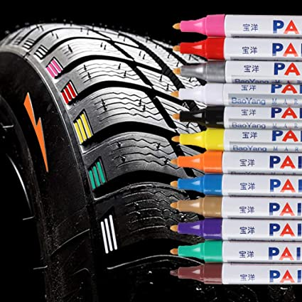 Qbisolo - Rotulador de Color para neumáticos de Coche, Moto ...