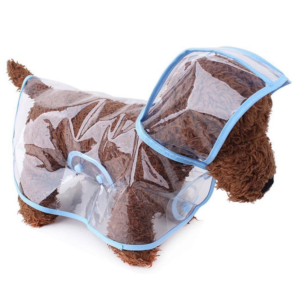 Topsung Dog Raincoat with Hood Poncho Transparent Rain Coat for Small Dogs Waterproof Clothes Puppy Cats