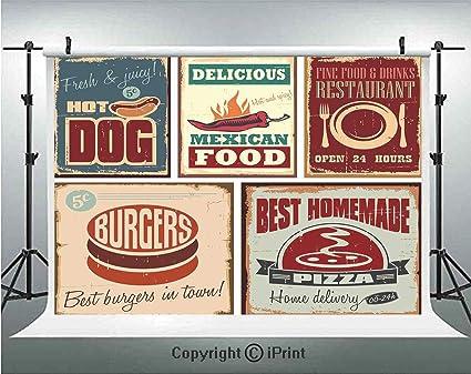 Amazoncom 1950s Decor Photography Backdrops Nostalgic Tin