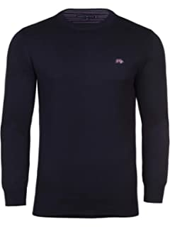 29fad3252c3dc7 Raging Bull Knitted Jumper - Cotton/Cashmere Striped Crew Neck ...