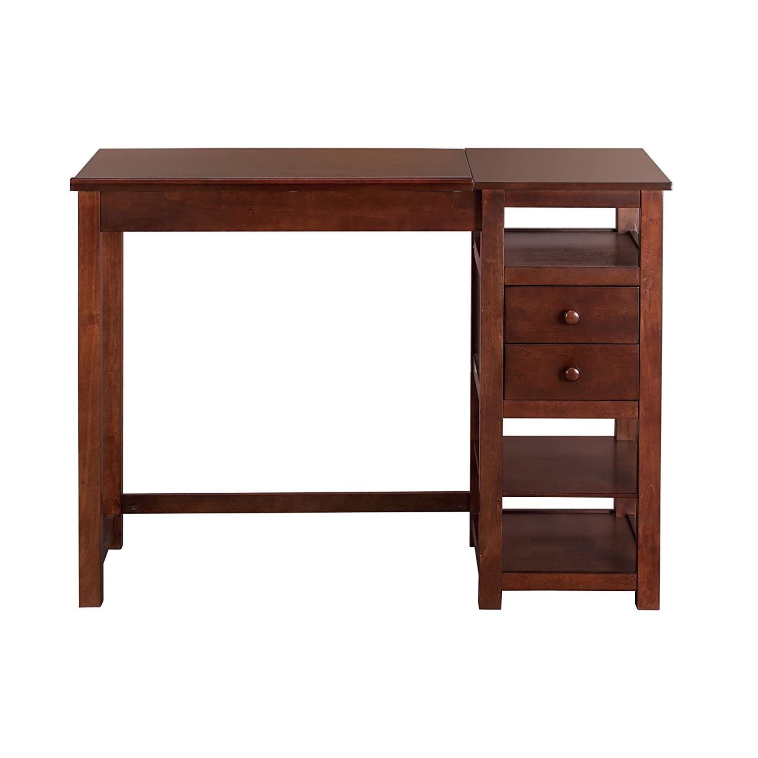 Amazon.com: Dorel Living Drafting And Craft Counter Height Desk, Espresso:  Kitchen U0026 Dining