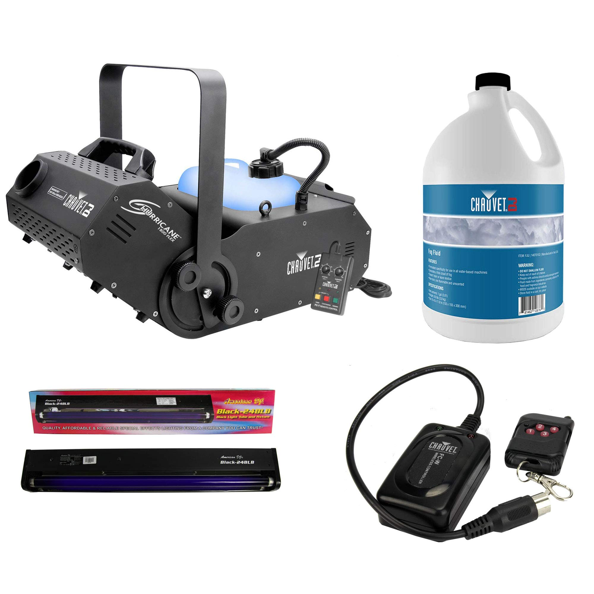Chauvet DJ Hurricane 1800 H1800 FLEX DMX Fog/Smoke Pro Machine w/Timer Remote by ADJ Products