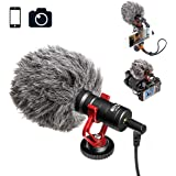 Boya By-mm1Compact sur Caméra Shotgun vidéo Micro YouTube Vlogging Facebook ainsi Stabilisateur d'enregistrement Micro pour iPhone Huawei Smartphone DJI Osmo Mobile Plus, pour Zhiyun lisse Q Canon Sony DSLR Caméras