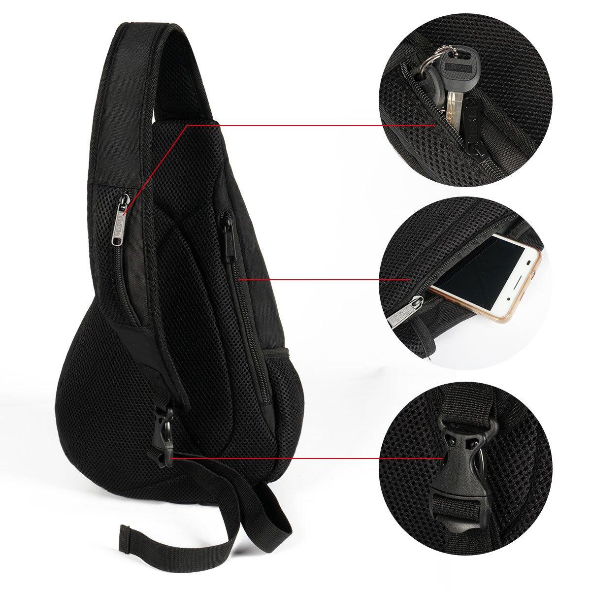 ThiKin Wholesale Multilayer Crossbody Sling Bag Casual Sports Chest Bag Pack Shoulder Backpack