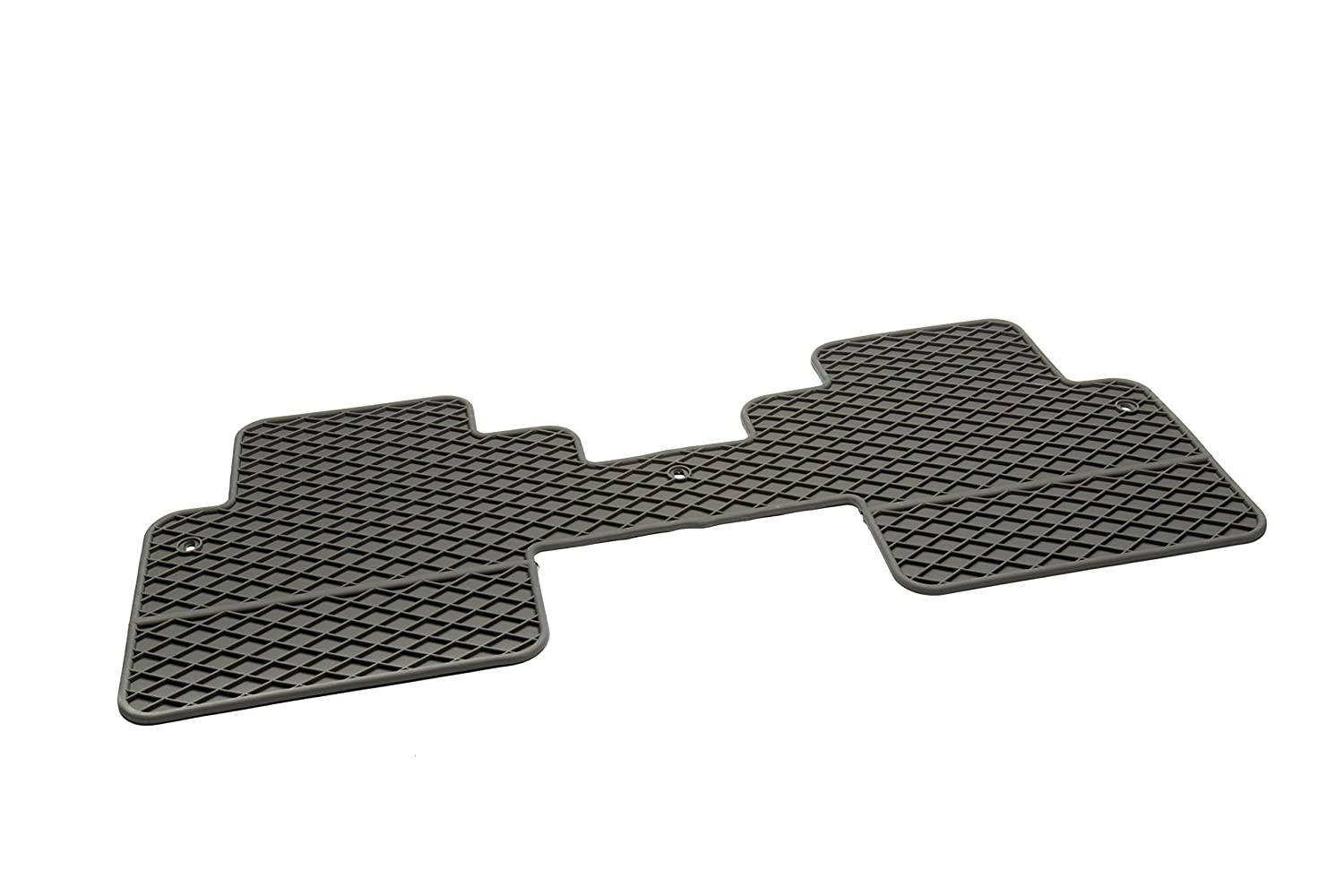 GM Accessories 22890469 Second Row 1-Piece All-Weather Floor Mat in Titanium with Deep Rib