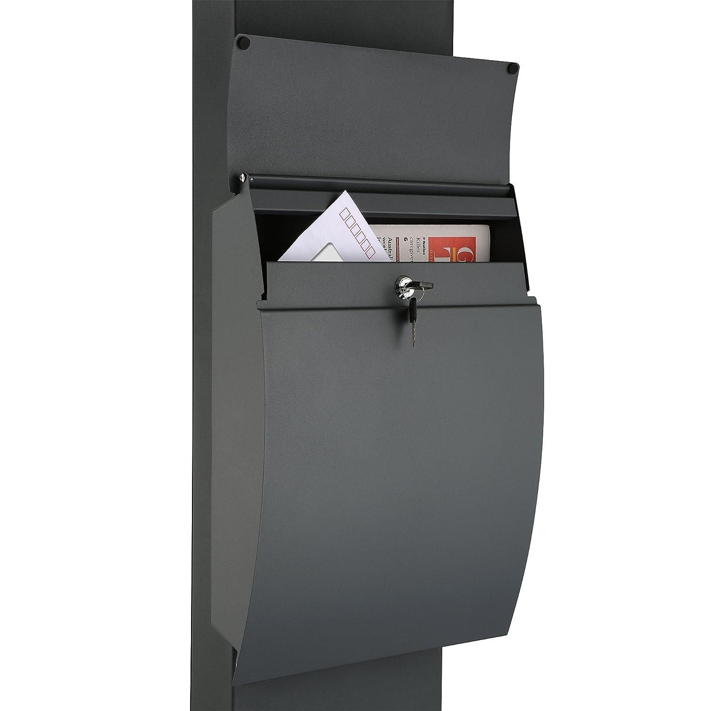71IJ4WKq-vL._SL1500_ Erstaunlich Briefkasten Anthrazit Mit Zeitungsfach Dekorationen