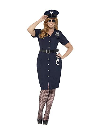 0f9408a2f60 Amazon.com  Smiffy s Women s Plus Size NYC Cop Costume  Clothing
