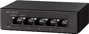 Cisco SG110D-05 Desktop Switch with 5 Gigabit Ethernet (GbE) Ports, Limited Lifetime Protection (SG110D-05-NA)