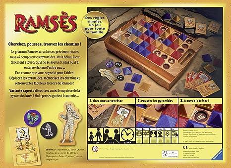 Ravensburger Ramsès 26717 - Juego de Mesa para Familia de 1 a 5 Jugadores Desde 7 años, versión Francesa: Amazon.es: Juguetes y juegos