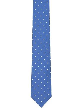 Corbata Hackett SastrerÃa Silk Linen Dot azul: Amazon.es: Ropa y ...