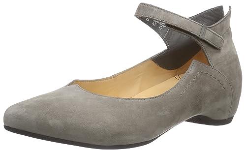 Think! Imma Ballerina - Scarpe con Cinturino Alla Caviglia Donna, Grigio  (Grau (