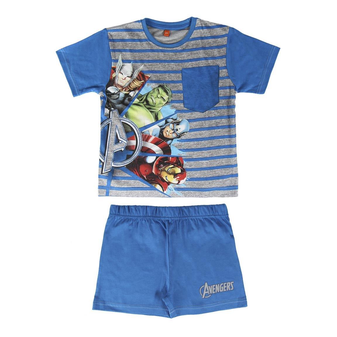Los Vengadores - pijama manga corta 2 piezas 100% algodón (8 años ...