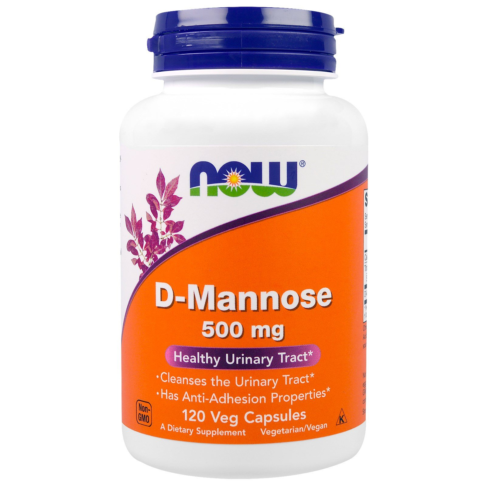 Now Foods D-Mannose, 120 Caps 500 mg (Pack of 3)