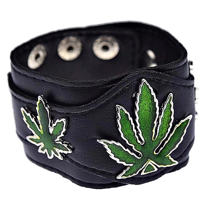 Bling Cartel Verde Marihuana Hojas Pulsera Tres Pot Weed ...