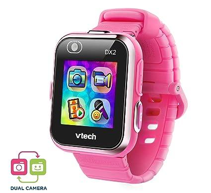 VTech Kidizoom Smart Watch DX2 - Reloj inteligente para niños con doble cámara, color rosa