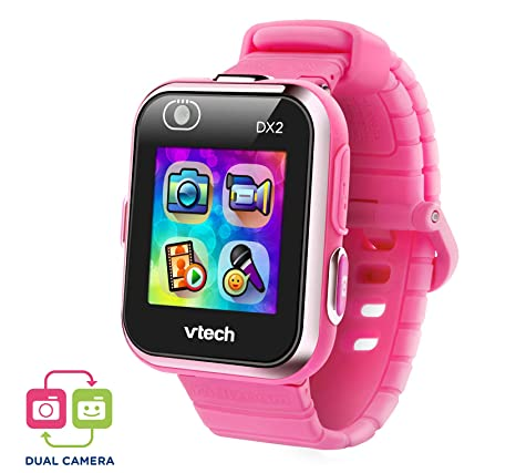 VTech Kidizoom Smart Watch DX2 - Reloj inteligente para niños con doble cámara, color rosa
