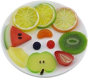 Gresorth Premium Artificial Fruit Slice Fake Lemon Watermelon Kiwi Apple Cherry Pineapple Party Decoration