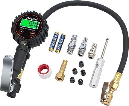 Proster Manómetro Digital Neumáticos 250 PSI Medidor de Presión de ...