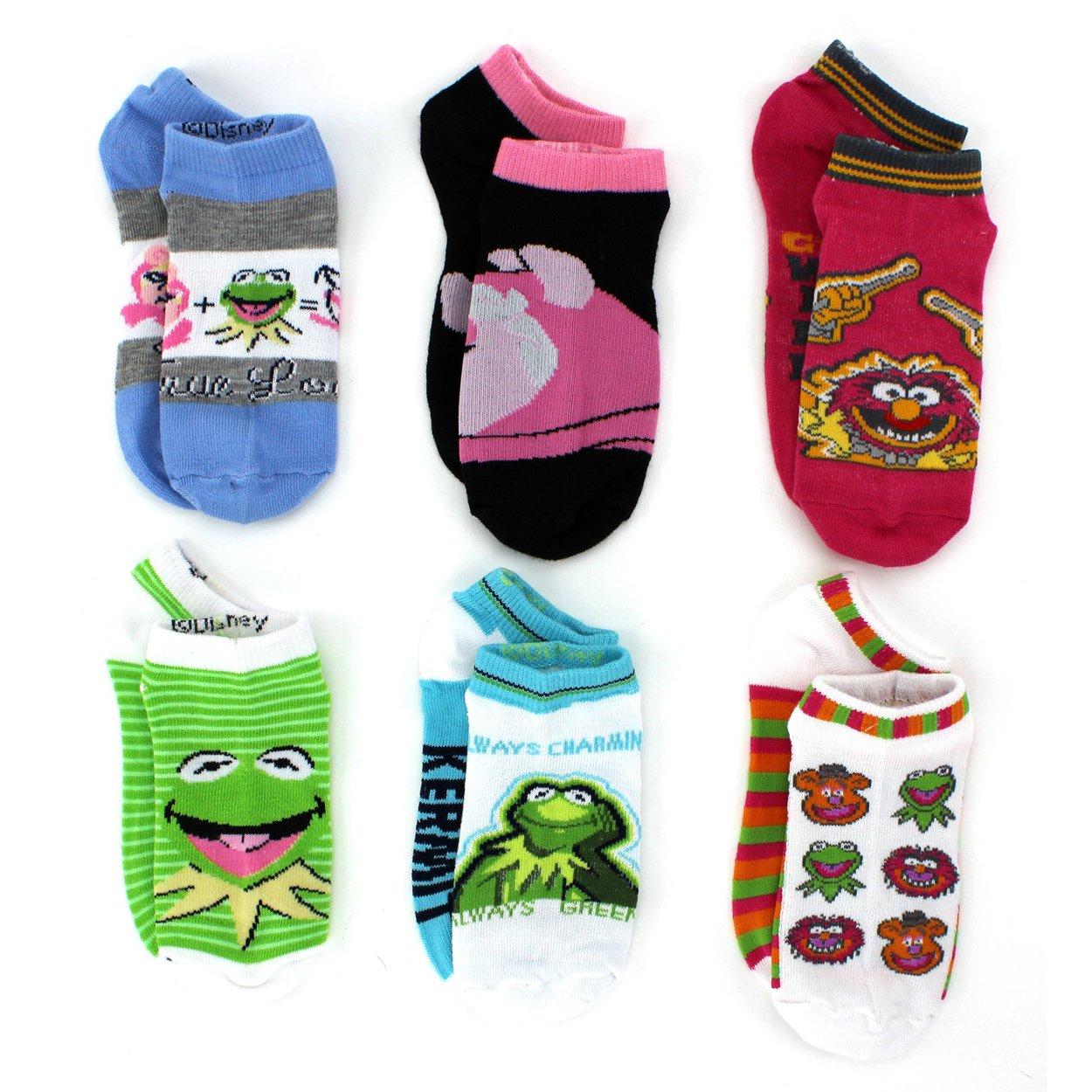 The Muppets Girls 6 pack Socks (Little Kid/Big Kid) True Love No Show) manufacturer 00-AVHSF3AD-UZ