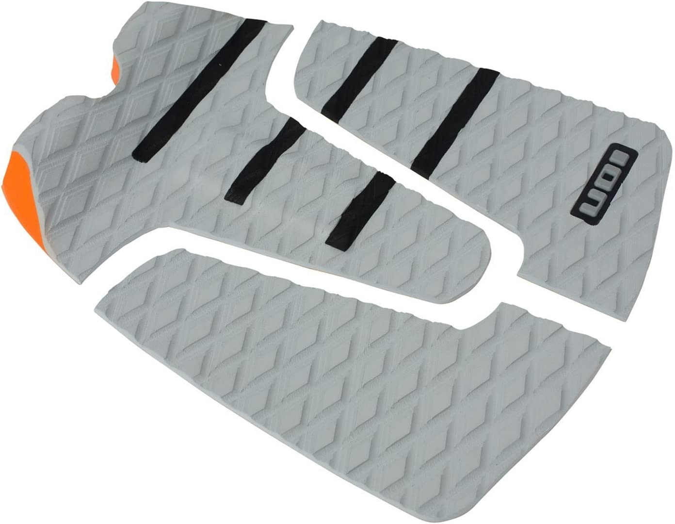 ION Footpad Deck Grip Pad 3-tlg Grau/Schwarz Surfboard Wellenreiter