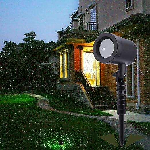 xihongshi Proyector Exterior Sky Star Reflector Ducha Paisaje Disco Luces Jardín Césped Luces: Amazon.es: Jardín