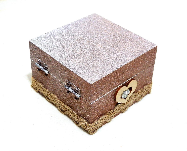 Caja Anillo San Valentín, Regalo San Valentín, Caja Anillo Personalizado, Caja Anillo de Madera, Caja de Anillo Regalo, Caja Anillo Grabado: Amazon.es: ...