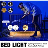 Under Bed Light, YMing Motion Activated Flexible LED Strip Sensor Night Light Kit with Automatic Shut Off Timer For Bedroom, Wardrobe, Hallway,Crib (1.5M/4.9ft) Warm White