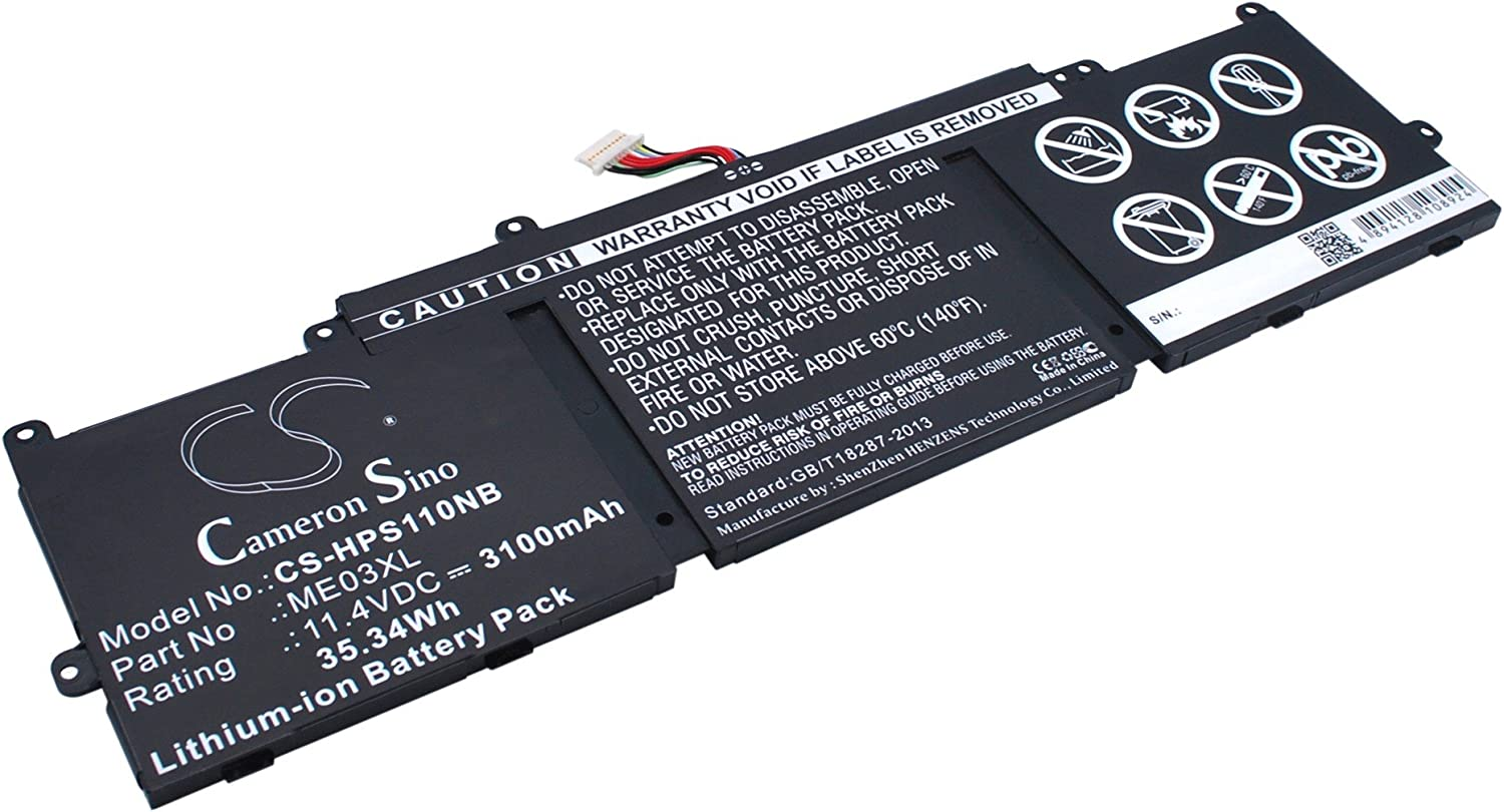 3100mAh Replacement for HP Stream 13-C020CA, Stream 13-C020NR, Stream 13-C024TU, Stream 13-C025TU, Stream 13-C030TU Battery, P/N 787089-541, 787521-005, HSTNN-UB6M
