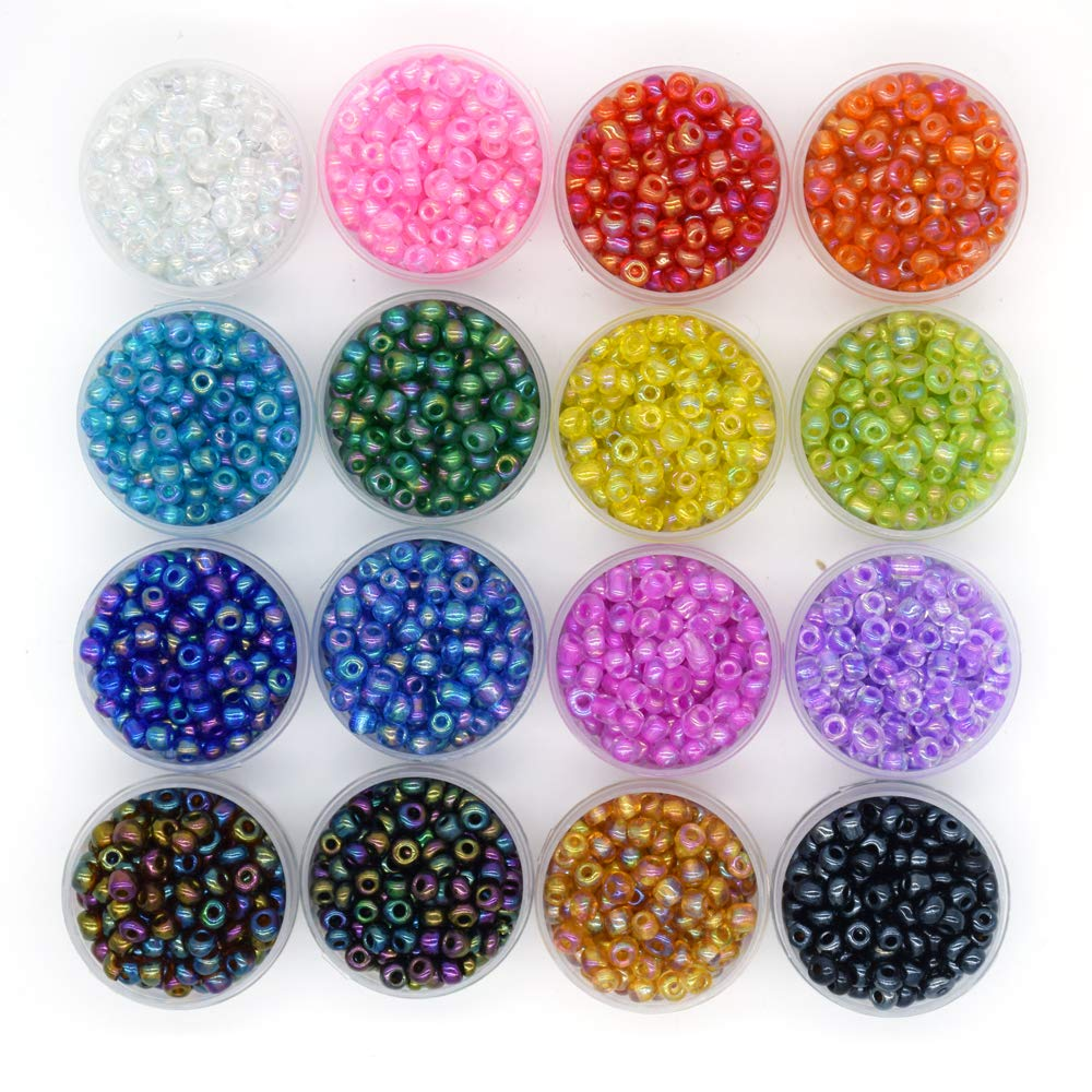 YUEKUI 6mm Briolette Crystal Glass Beads for Jewelry Making Wholesale 32Faceted Briollete Rondelle 24Colors with Container Box (720pcs)