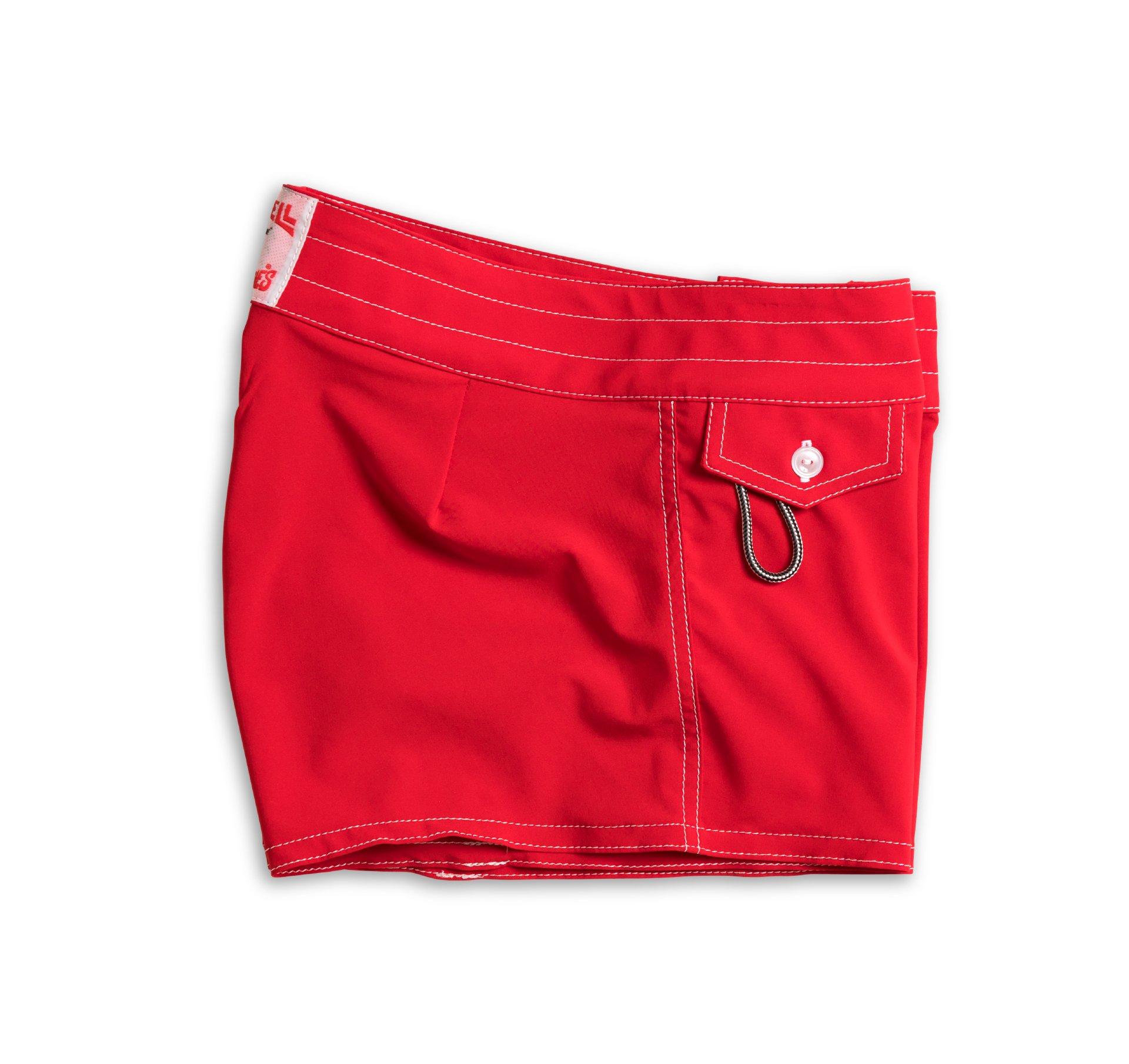 Birdwell Women's Stretch Board Shorts - Regular Rise (Red, 2) by Birdwell Beach Britches (Image #3)
