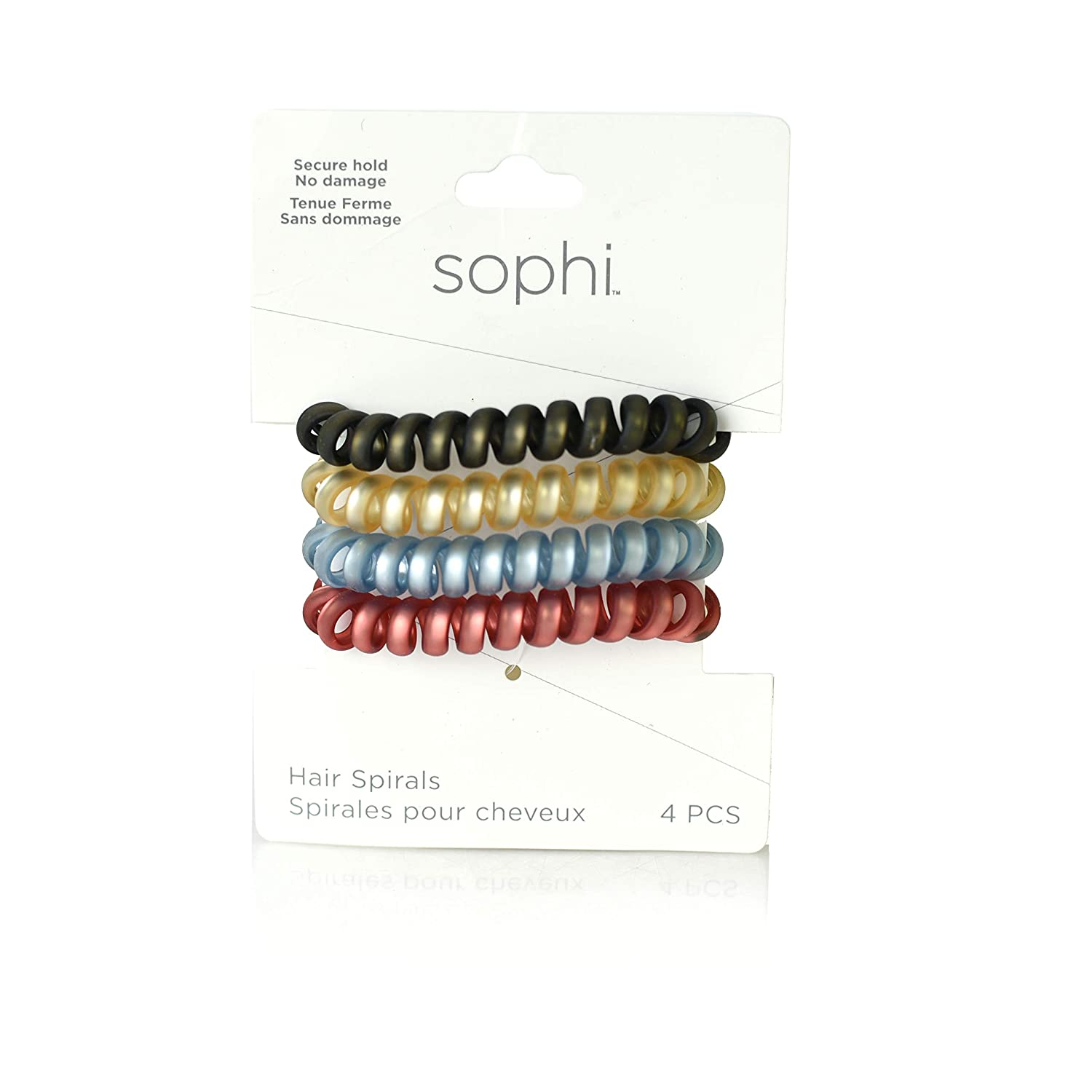 6 Pack Spiral Coil Hair Band Tangle Telephone Cord Wire Plastic Elastic Bobble