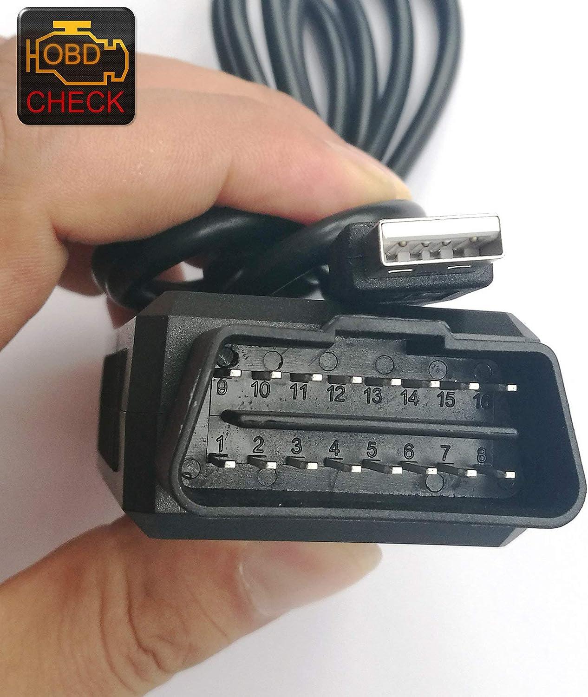 OTKEFDI ELM327 OBD Esc/áner,ELMConfig ELM 327 USB HS-Can Modificado y MS-Can ELM327 en PIC18F2480 y Chip FTDI,500 kbit//s de Velocidad ELM327