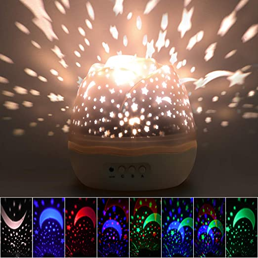 Star Night Light Projector, Zmoon LED Projection Lamp Rotación de ...