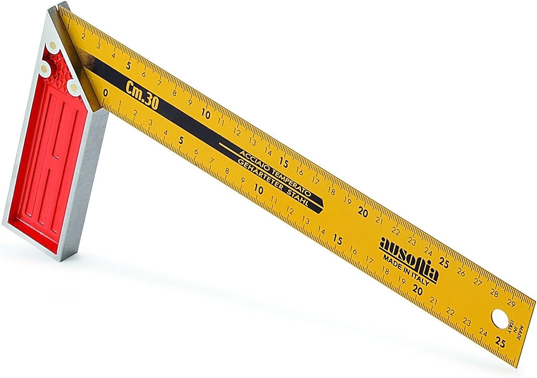 Ausonia 47463 Equerre gradu/ée /à tr/ès haute pr/écision avec manche en aluminium 35 cm